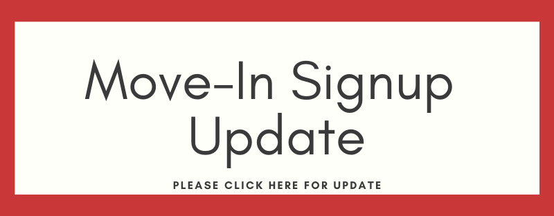 Move-In Signup Update