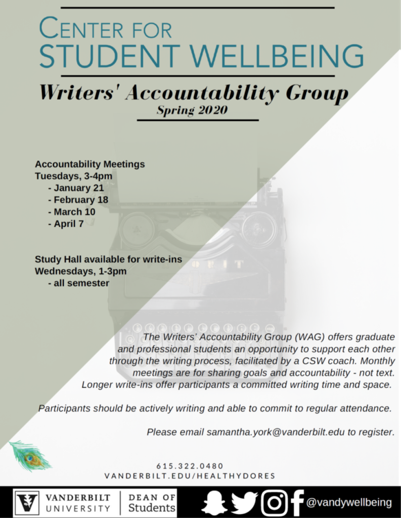 CSW Writers' Accountability Group Flyer