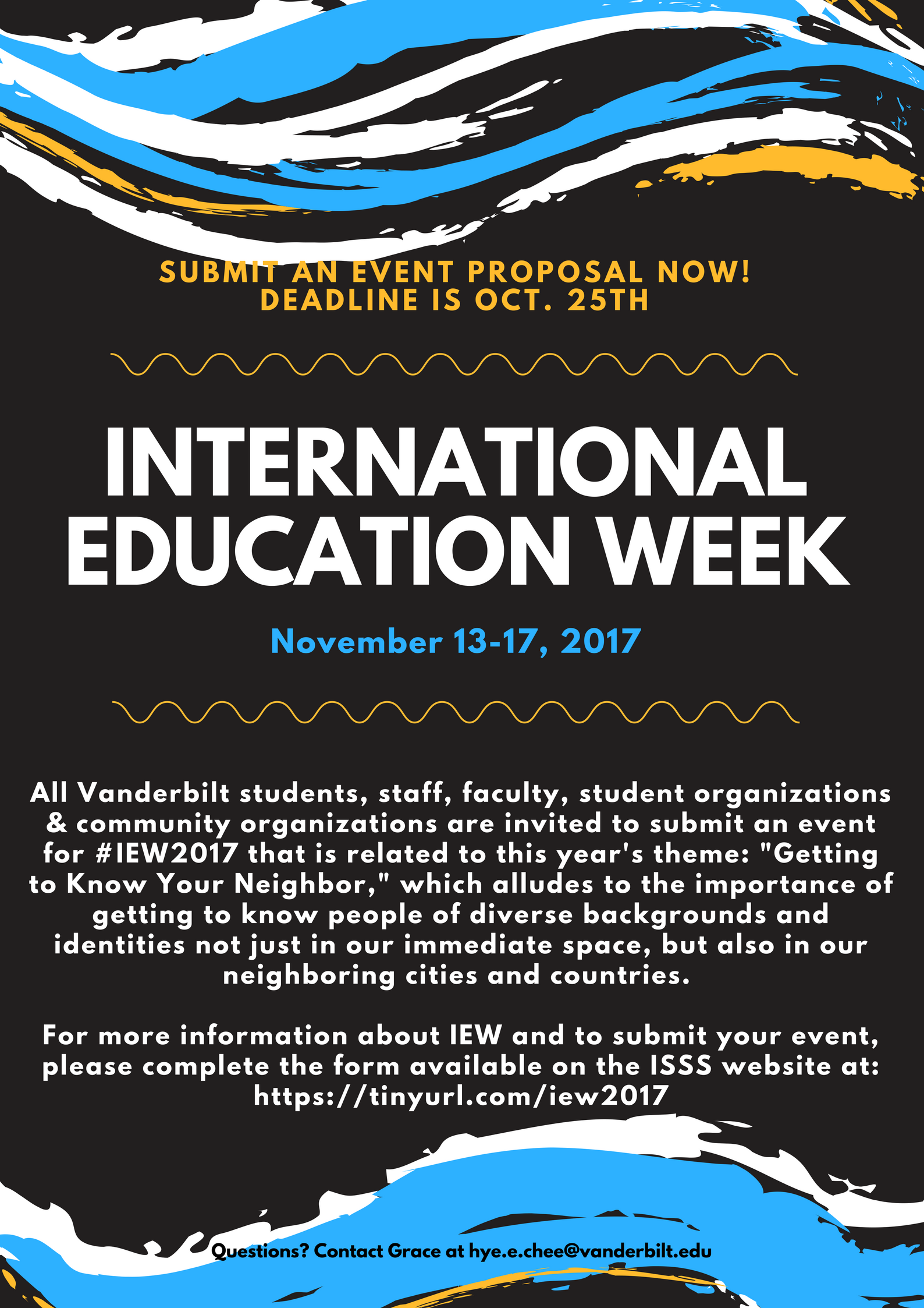 Submit a Proposal for IEW 2017 | International Student ... - photo#45