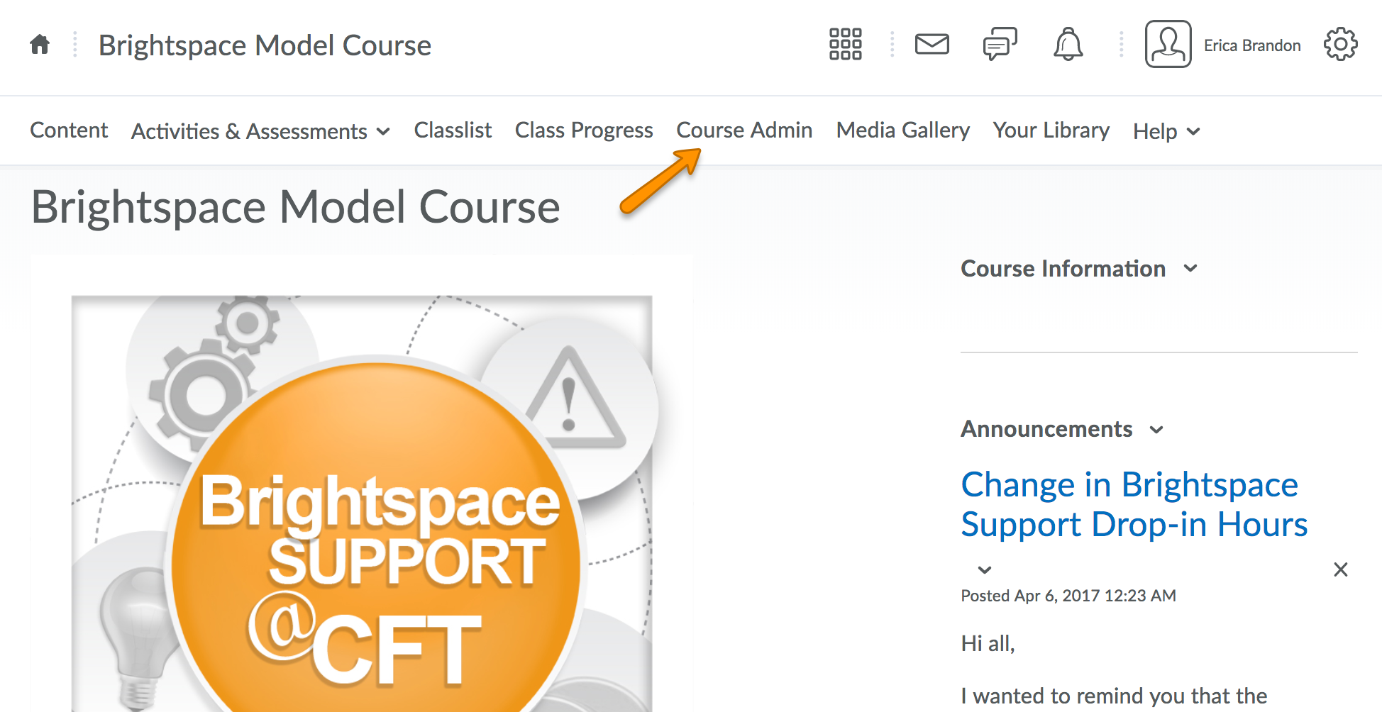 How do I create a banner for the course homepage? | Brightspace