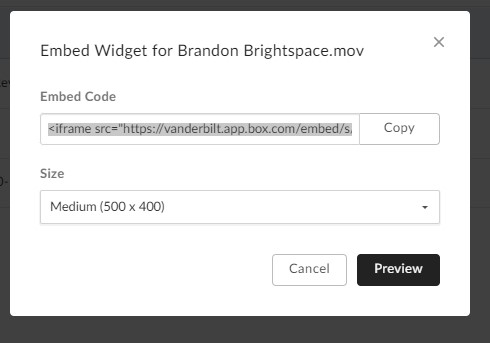 Add A Video Or Other File From Vanderbilt Box Into Content Brightspace Vanderbilt University