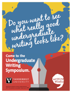 Undergraduate Writing Symposium poster