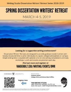 Publicity for Dissertation Retreat
