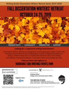 Dissertation Writers Retreat Poster- Fall 2019