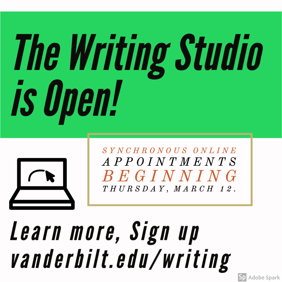 The Writing Studio Is Open And Ready To Serve You Online