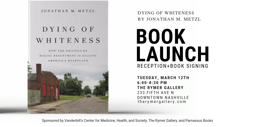 March 12th: Dying of Whiteness Book Launch