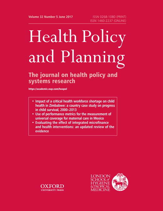 Health Policy and Planning