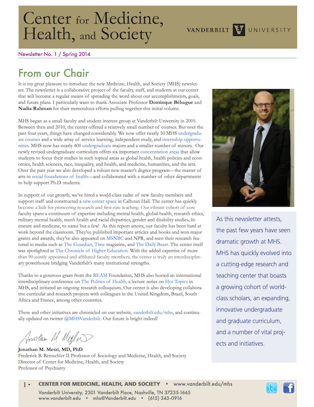 Spring 2014 Annual Report