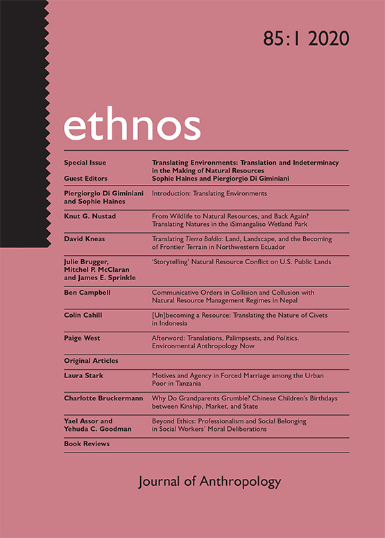 Ethnos: Journal of Anthropology cover