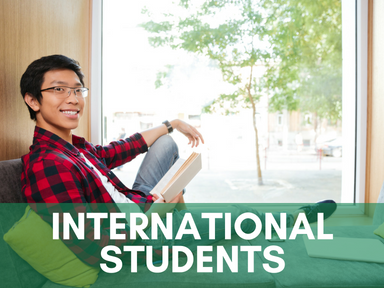 Click the link below this image to access our page for international students.