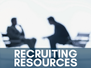 Click on this icon to access our page on recruiting resources.