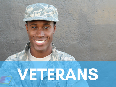 Click the link below this image to access our page for student veterans.