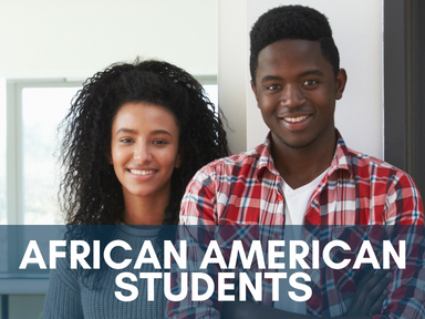 Click the link below this image to access our page for African American Students.