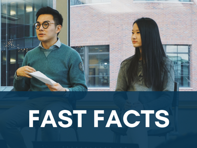 Click the link below this image to access our fast facts for international students.