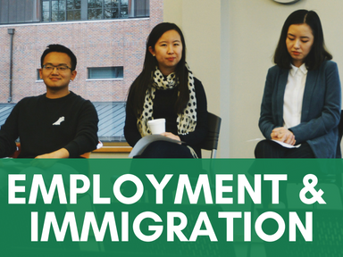 Click the link below this image to access our employment and immigration page for international students.