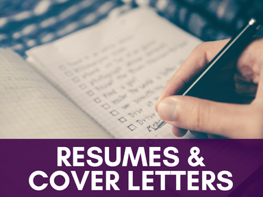 Click this icon to access our resume and cover letter page.