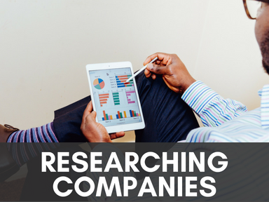 Click this icon to access our page about researching companies.