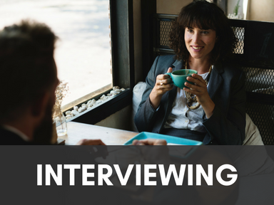 Click this icon to access our page about interviewing.