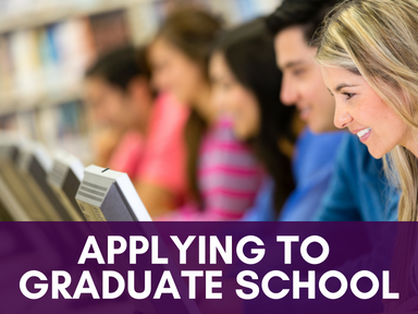 Click this icon to access our page about applying to graduate school.