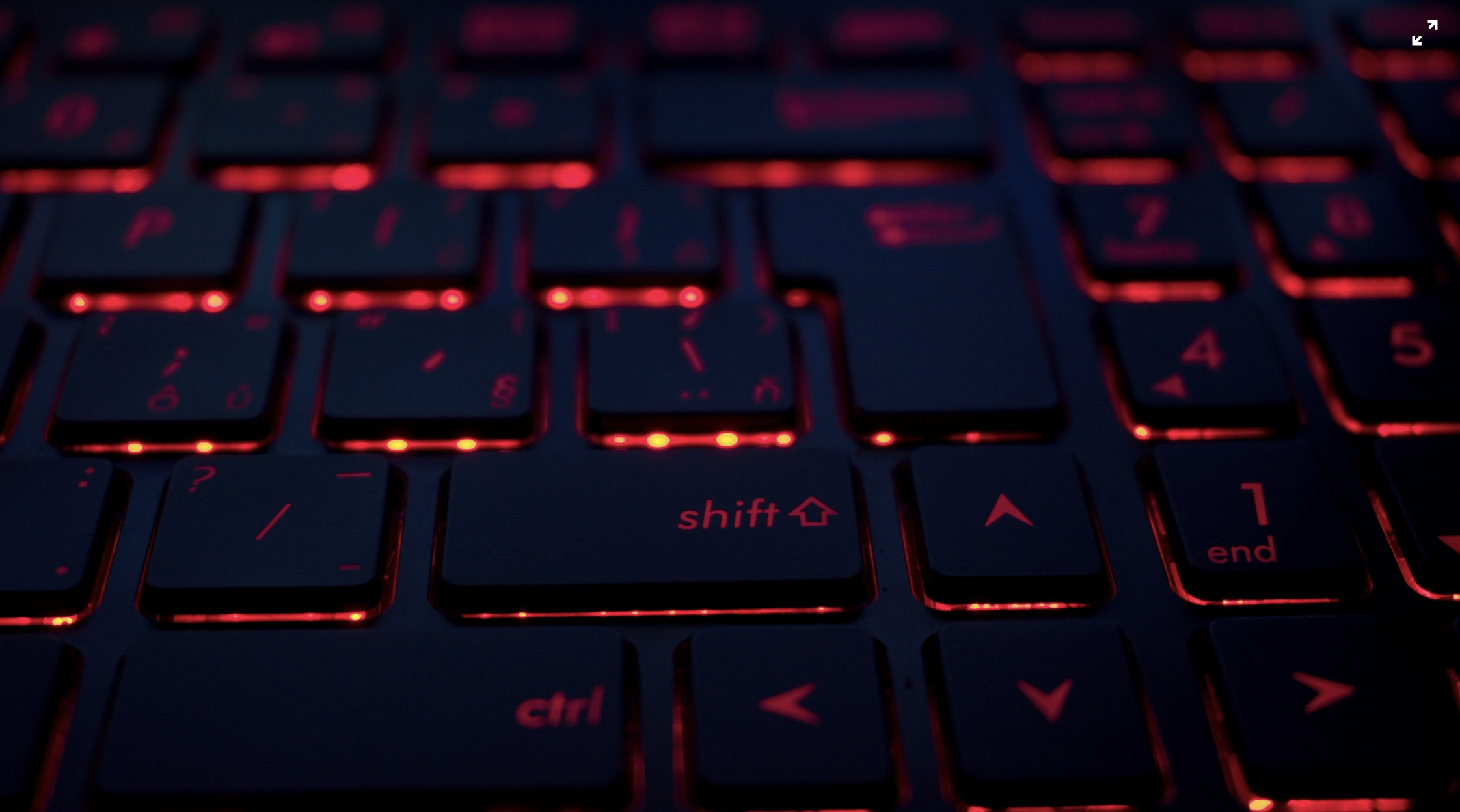 Image of a red-lit keyboard