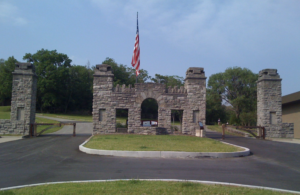 Picture of stone arch at entrance to Fort Negley