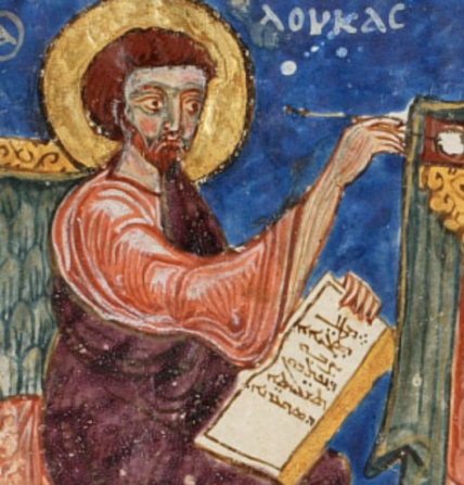 Painting of an evangelist writing
