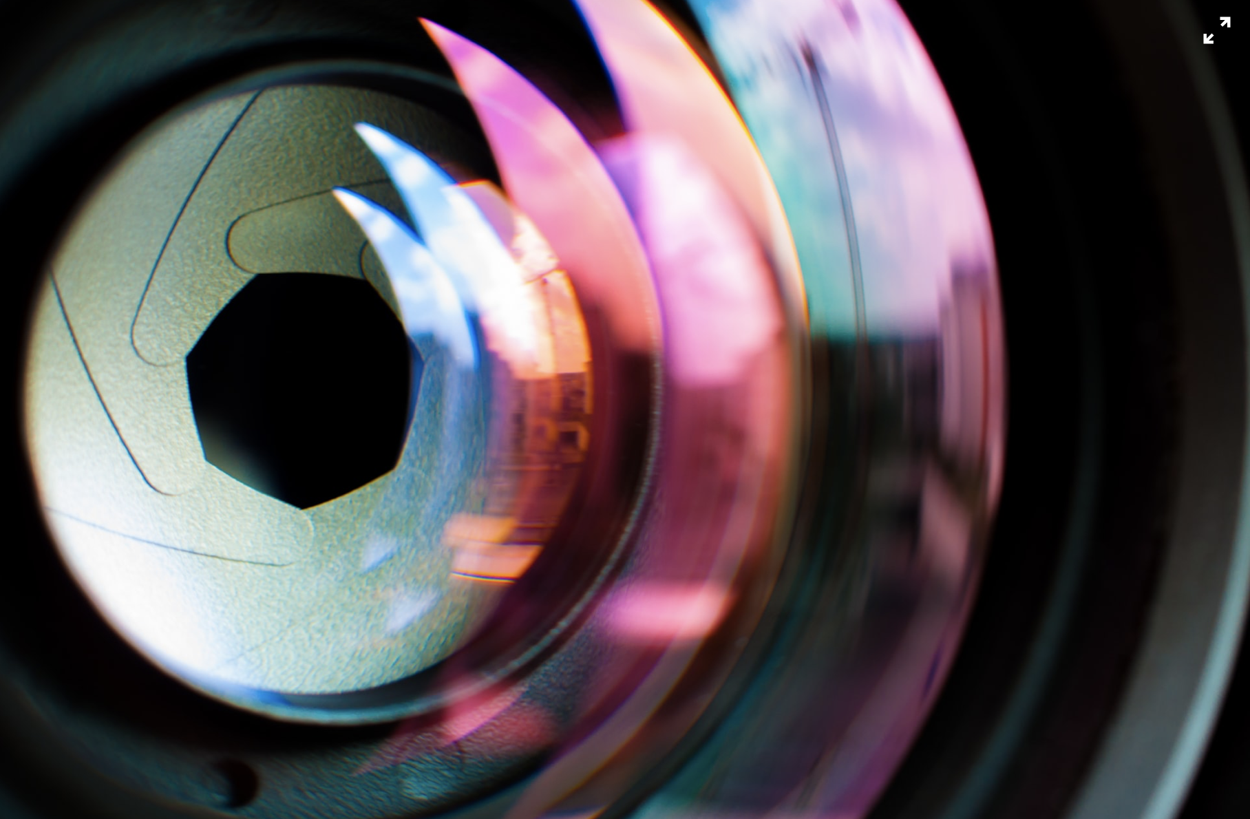Close-up image of a camera lens