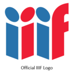 "Letters ""iiif"" in block form, and in alternating colors (blue, red, blue, red)"