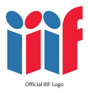 """Letters """"iiif"""" in block form, and in alternating colors (blue, red, blue, red)"""