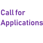 "Purple text that says: ""Call for Applications"""