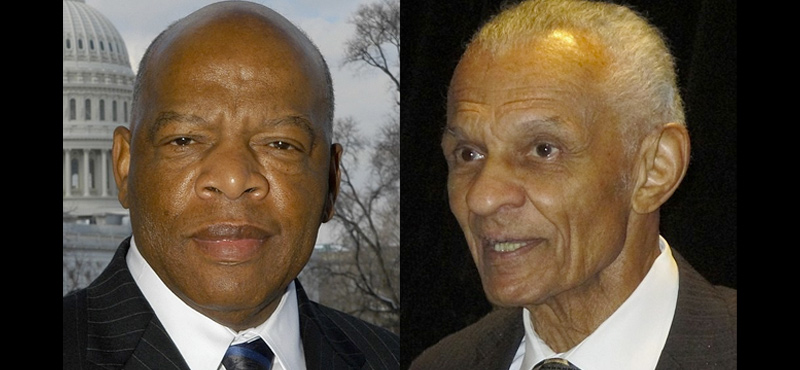 To Rep. John Lewis and Rev. C.T. Vivan: Thank you for all the 'good trouble'.