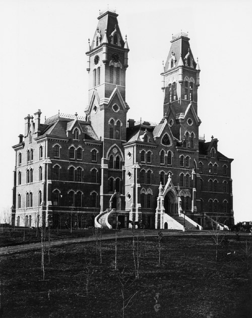front of Kirkland Hall in 1875