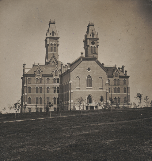 back of Kirkland Hall in 1877