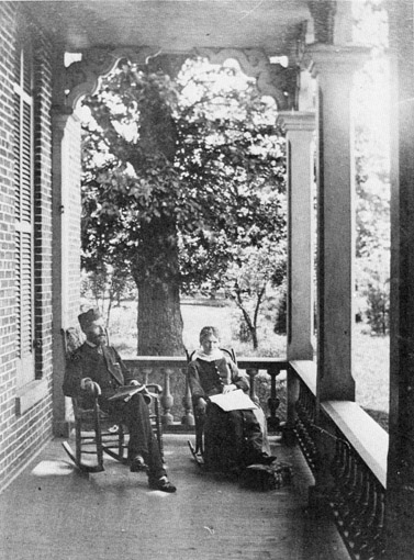 view from porch of Old Central in 1880's