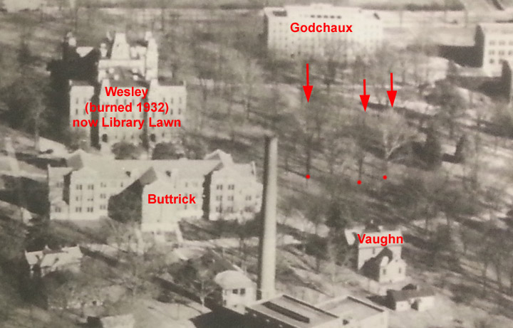 Aerial view of Vanderbilt from west, c. 1930