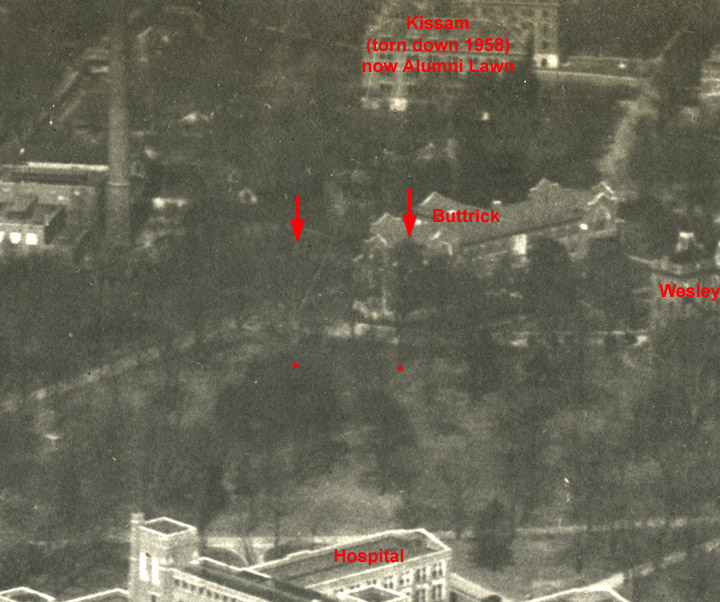 Aerial view of Vanderbilt from east, c. 1930