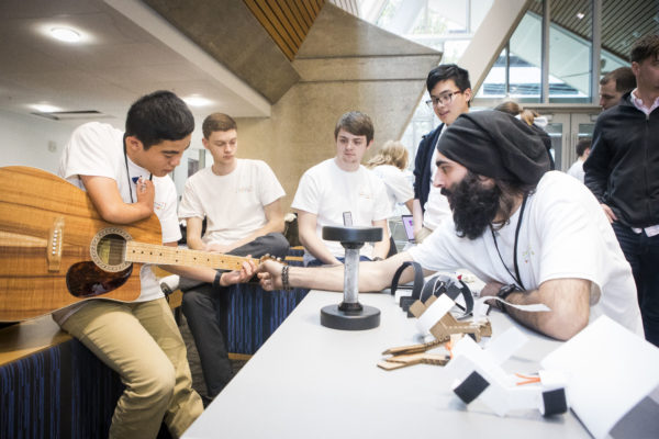 2019 Tikkun Olam Makers Makeathon Showcase. The goal of the event is to pair groups of engineers with people with disabilities to come up with low cost, assistive technologies to help with the person of disability in their daily lives. Photos by: Susan Urmy