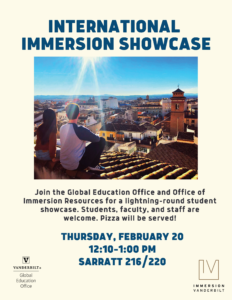 Immersion Showcase Poster 2020