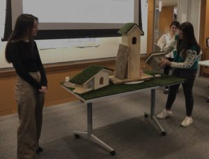 Students present interactive fairy house