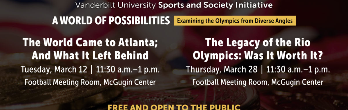 Join the Sports and Society Initiative for these upcoming events in March