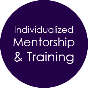 individualized mentorship and training