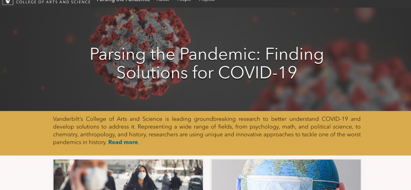 Parsing the Pandemic Grand Challenge Initiative site, created using ArcGIS Hub.