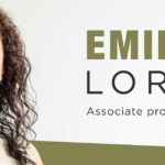 Portrait of Emily Lordi: text: Associate professor of English