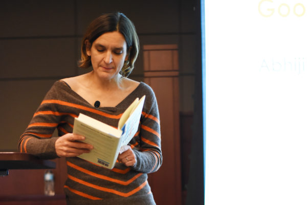 Esther Duflo reading from book
