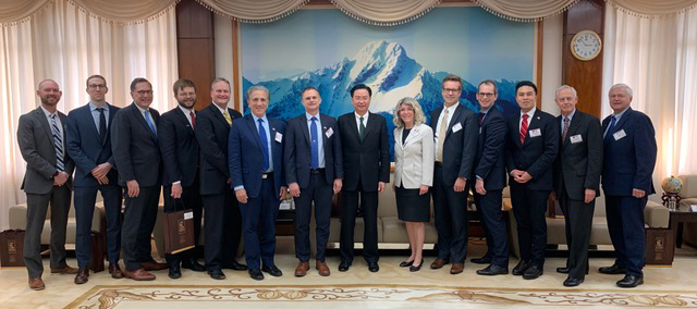 U.S. academic delegation with Taiwanese Minister of Foreign Affairs