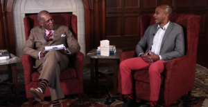 Brandon Byrd discusses the importance of Juneteenth with Vice Chancellor for Equity, Diversity and Inclusion André L. Churchwell.