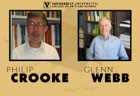graphic containing head shots of Philip Crooke and Glenn Webb