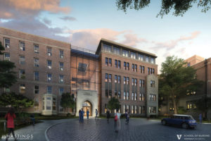 Rendering of the School of Nursing addition