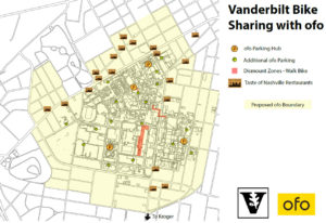 Parking area map for shared urban mobility devices