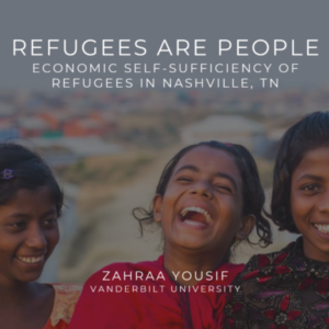 Zahraa Yousif Dagher's Map the System project on refugee economic self-sufficiency in Nashville was selected to advance to the global finals.